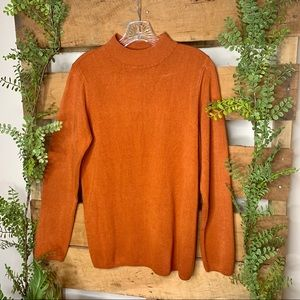 Kim Rogers | Burnt Orange Turtleneck